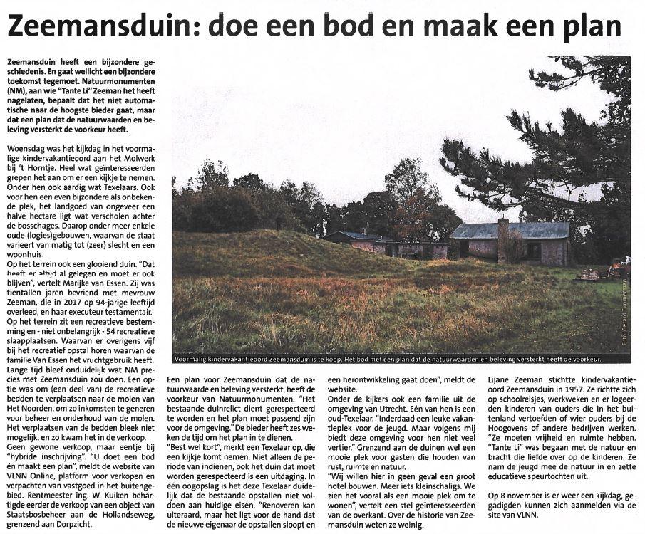 Afbeelding voor VLNN Online in de Texelse Courant